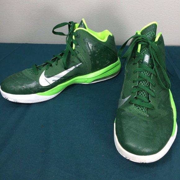 Nike Air Max TB Green Silver Mens Basketball Shoes